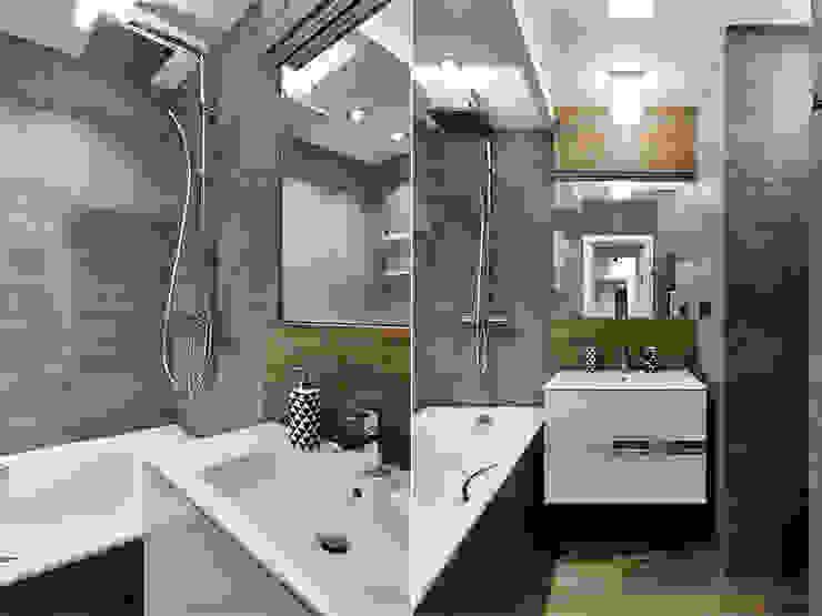 Baños de estilo  por Архитектурная студия Александры Спицыной,