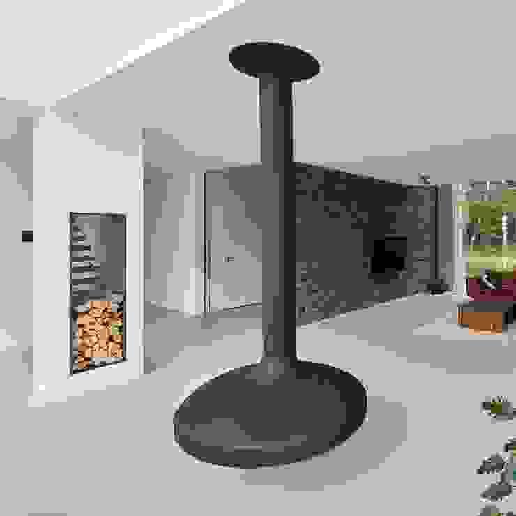 N-House in Dorst bij Breda. Moderne woonkamers van Lab32 architecten Modern