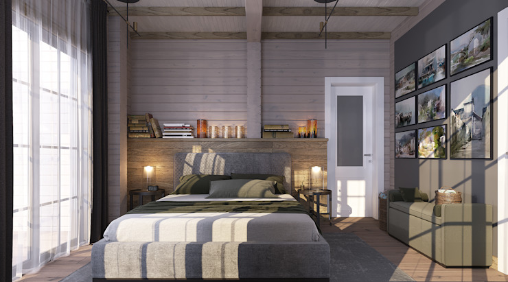 needsomespace Eclectic style bedroom Wood Beige