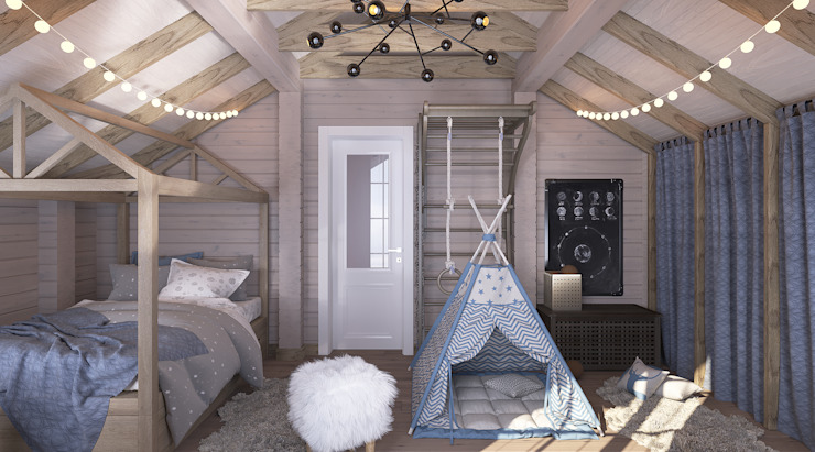 needsomespace Mediterranean style nursery/kids room Wood White