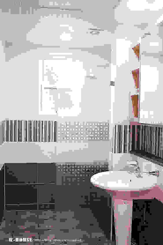 함라 신대리 2호 35평형 ALC전원주택 모던스타일 욕실 by W-HOUSE 모던 타일