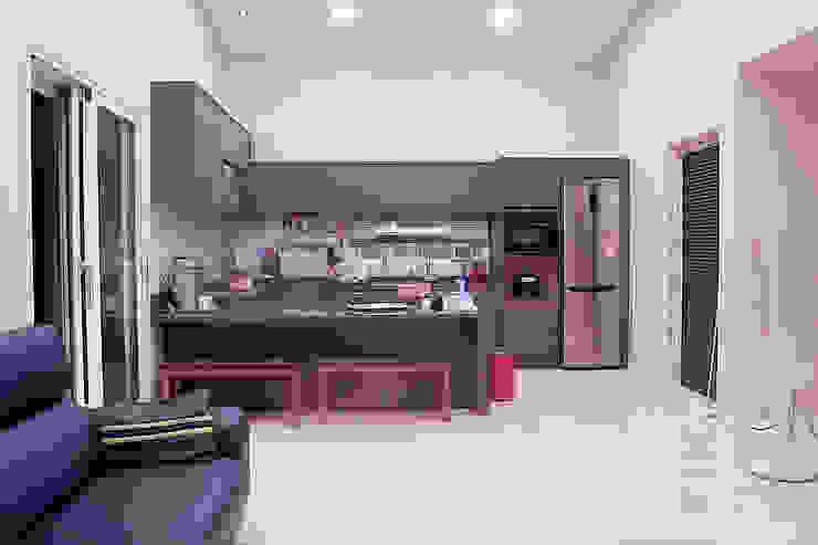 익산 임상리 50평형 ALC주택 by W-HOUSE 모던 타일