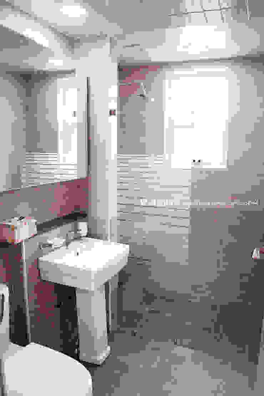 서천 8호 35평형 ALC전원주택 모던스타일 욕실 by W-HOUSE 모던 타일