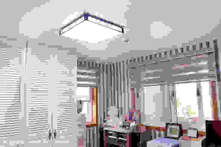 서천3호 35평형 친환경ALC전원주택 모던스타일 침실 by W-HOUSE 모던 석회암