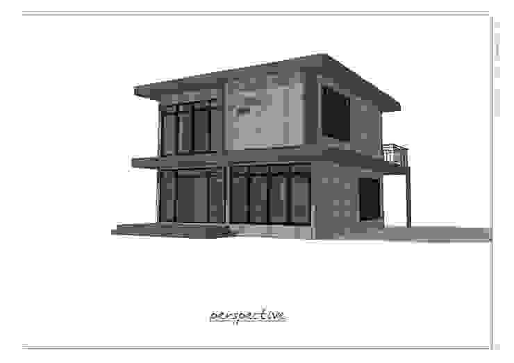 บ้านพักอาศัย 2 ชั้น โดย แบบบ้านออกแบบบ้านเชียงใหม่ โมเดิร์น