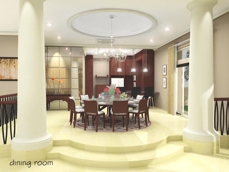 Pantai Mutiara R41 Ruang Makan Modern Oleh sony architect studio Modern