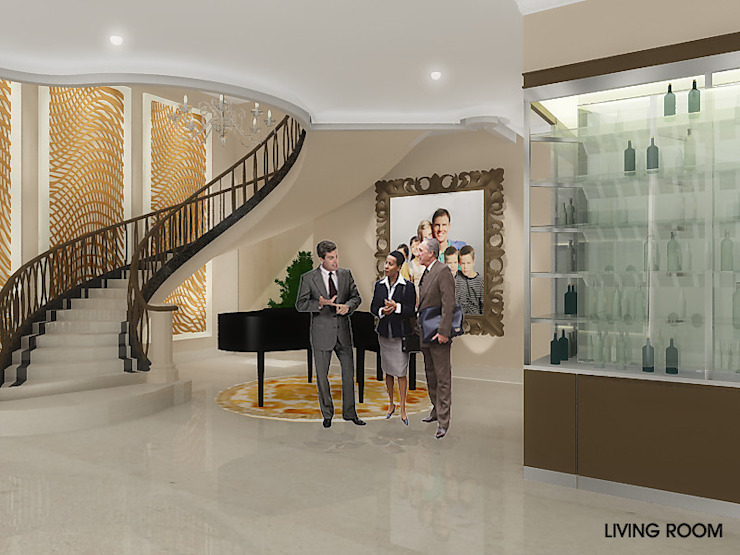Pantai Mutiara R41 Koridor & Tangga Modern Oleh sony architect studio Modern