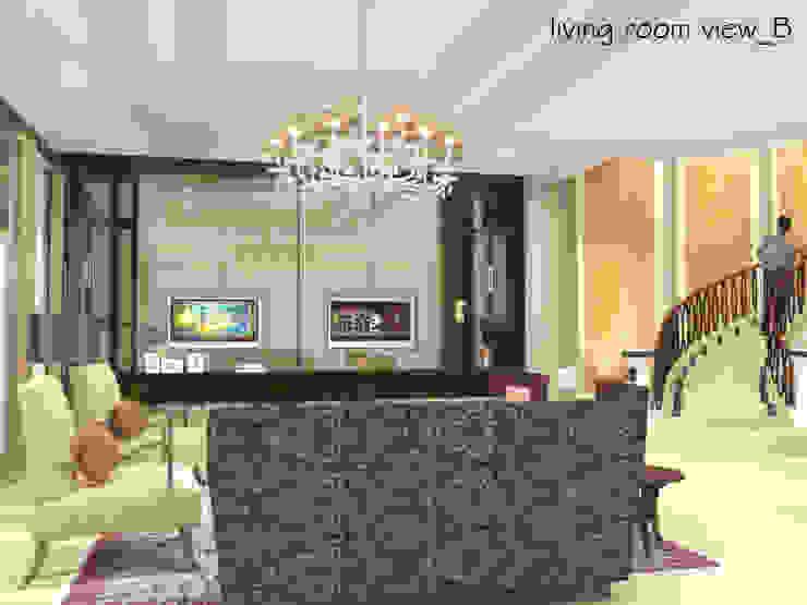 Pantai Mutiara R41 Ruang Keluarga Modern Oleh sony architect studio Modern
