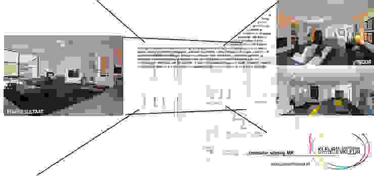 bestaand-design-resultaat Moderne huizen van KleurInKleur interieur & architectuur Modern