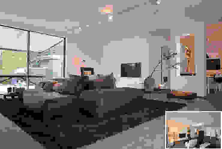 woonkamer Moderne woonkamers van KleurInKleur interieur & architectuur Modern