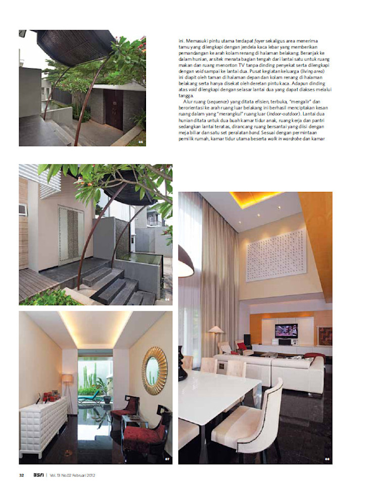 CINERE AT MAJALAH ASRI Rumah Modern Oleh sony architect studio Modern
