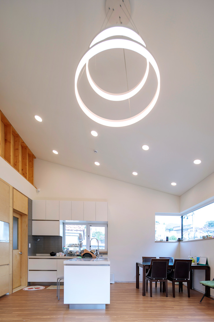 SEONGBUK-DONG HOUSE with Sarang-Chae 모던스타일 다이닝 룸 by IDEA5 ARCHITECTS 모던