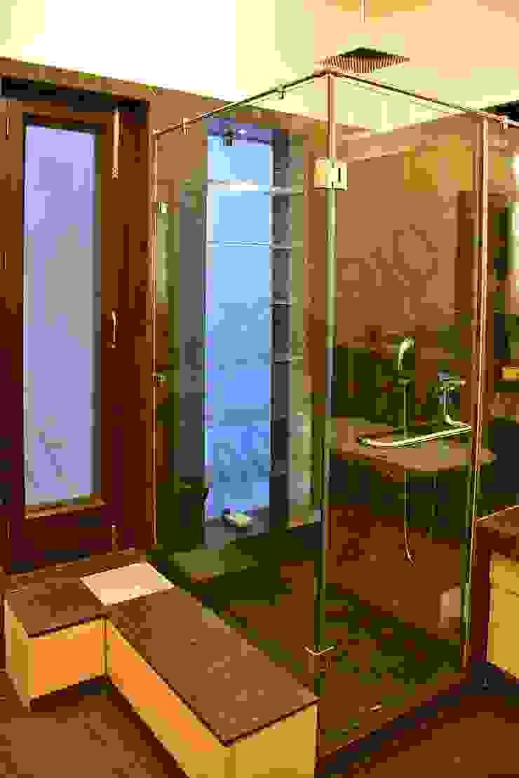 Villa Eclectic style bathroom by Tribuz Interiors Pvt. Ltd. Eclectic