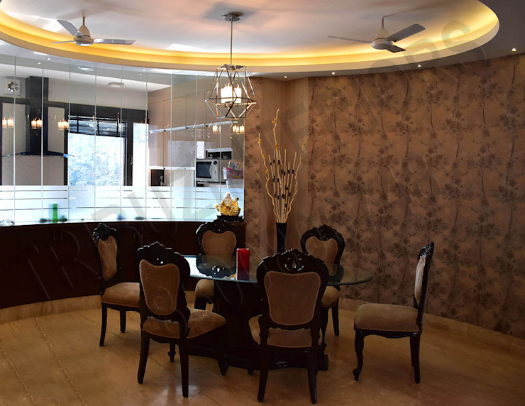 Tribuz Interiors Pvt. Ltd. Eclectic style dining room