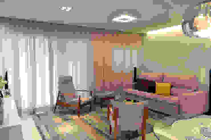 Apartamento Aclimação Salas de estar modernas por NOMA ESTUDIO Moderno