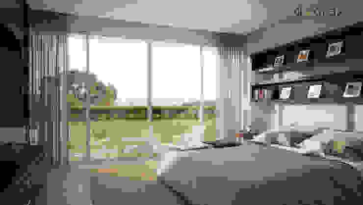 Phòng ngủ phong cách kinh điển bởi áwaras arquitectos Kinh điển