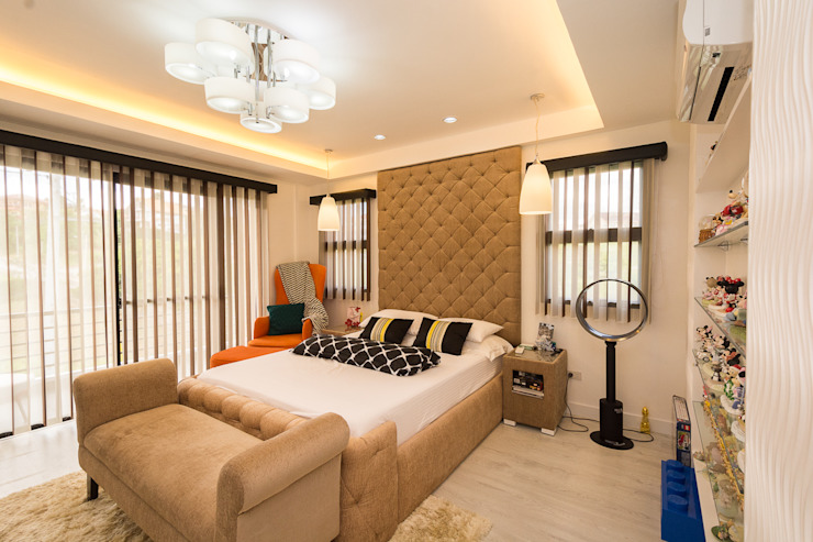 Tagaytay Southridge Estates TG Designing Corner Modern style bedroom