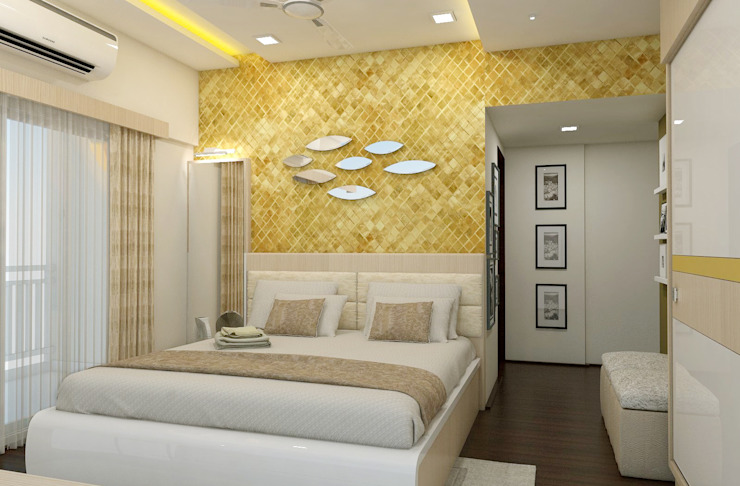 3 BHK flat @ Lodha Meridian Modern style bedroom by shree lalitha consultants Modern Plywood