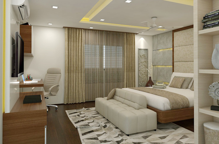 3 BHK flat @ Lodha Meridian:  Bedroom by shree lalitha consultants,Modern Plywood