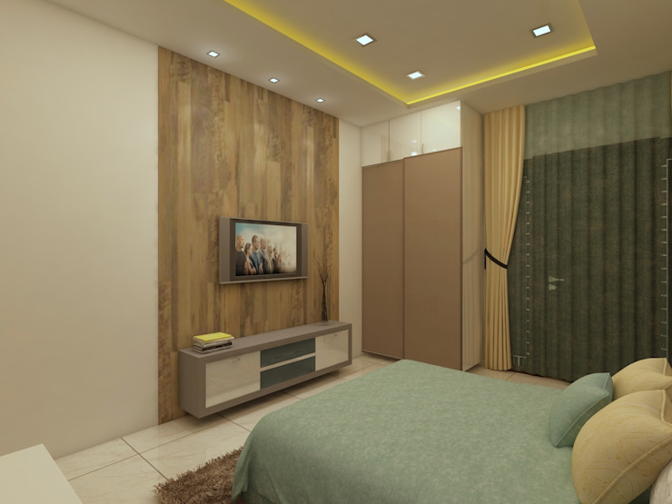 Master Bedroom Modern style bedroom by homify Modern