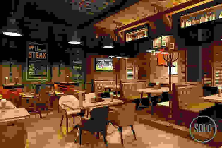 Solo Design Studio Bars & clubs Bricks Brown