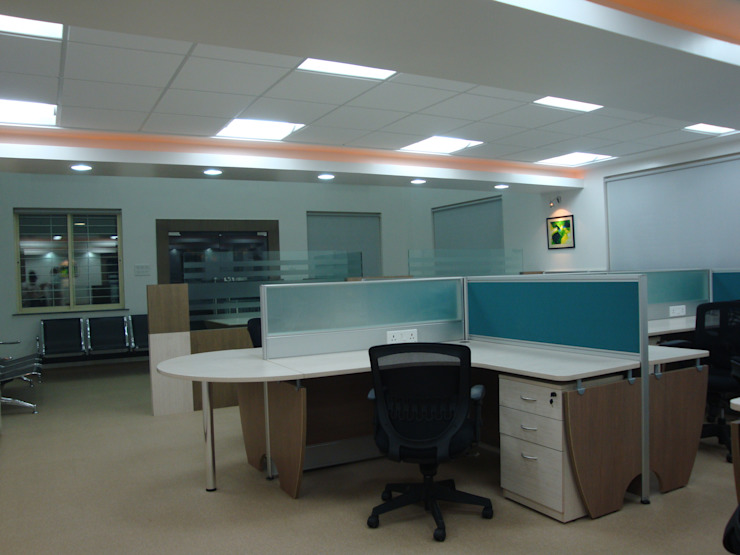 Sandvik Asia Pvt. Ltd. - Nagpur Modern study/office by Spaceefixs Modern