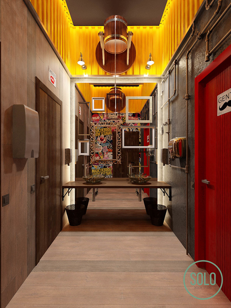 Solo Design Studio Bars & clubs Metal Yellow