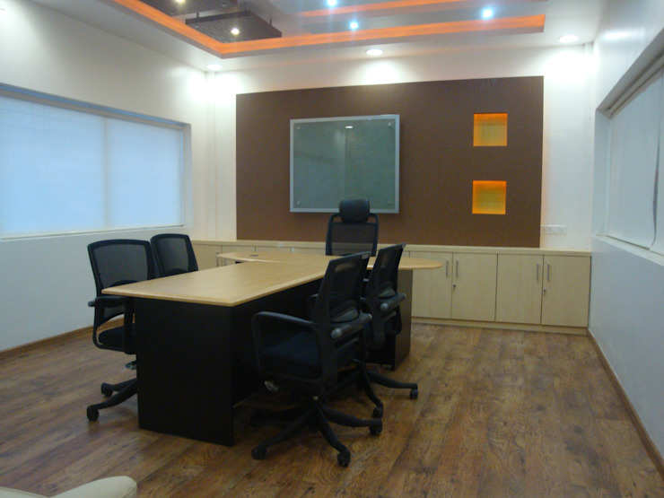 Posco Core, Talegaon Modern style study/office by Spaceefixs Modern