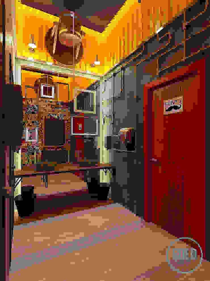 Solo Design Studio Bars & clubs Iron/Steel Red