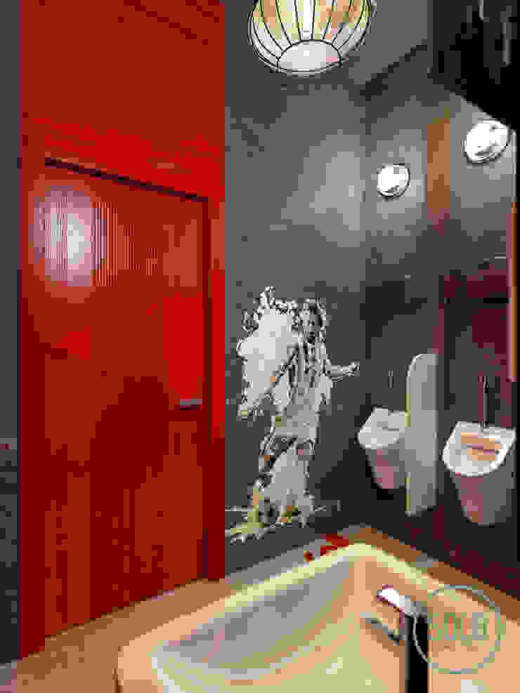 Solo Design Studio Bars & clubs Concrete Red