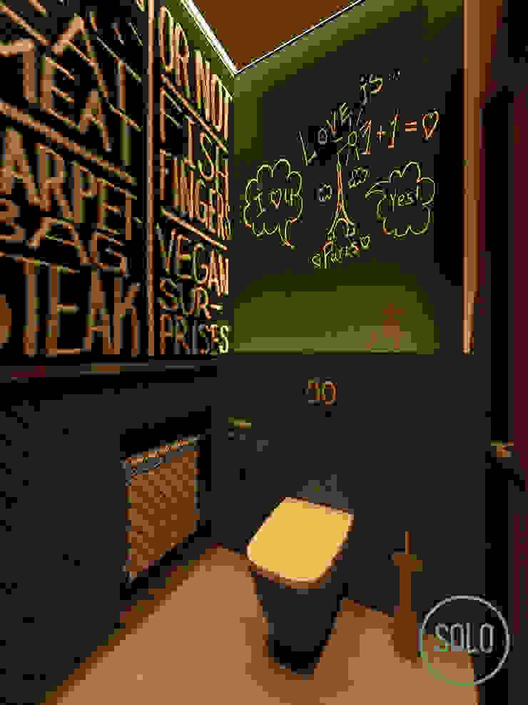 Solo Design Studio Bars & clubs Concrete Black