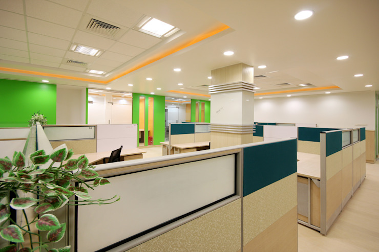 Kenersys : Kalyani Group ,Pune Modern style study/office by Spaceefixs Modern