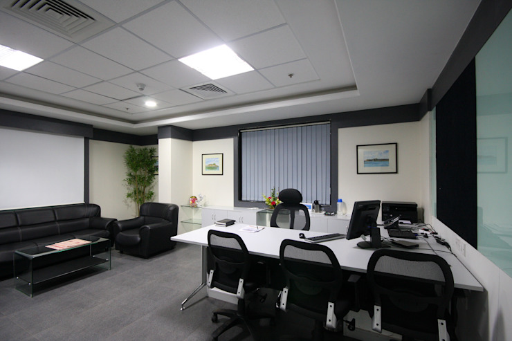Walter Tools India Limited, Pune. Modern style study/office by Spaceefixs Modern