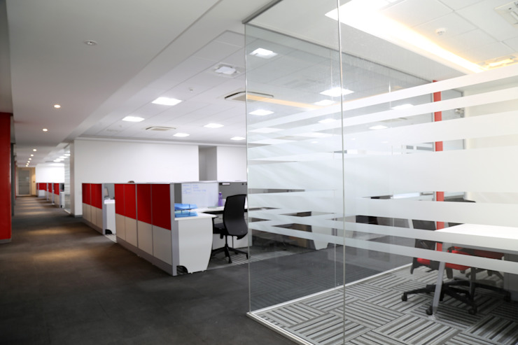 Phoenix Mecano Pvt. Ltd. Pune. Modern study/office by Spaceefixs Modern
