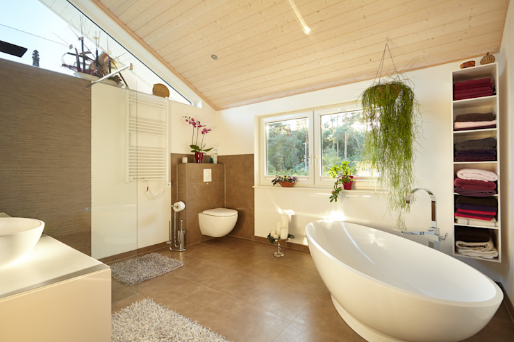 Scandinavian style bathroom by Oliver Kuty Photography Scandinavian