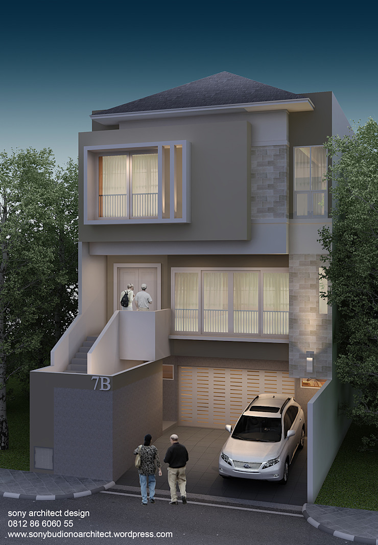 PIK CECEP Rumah Modern Oleh sony architect studio Modern