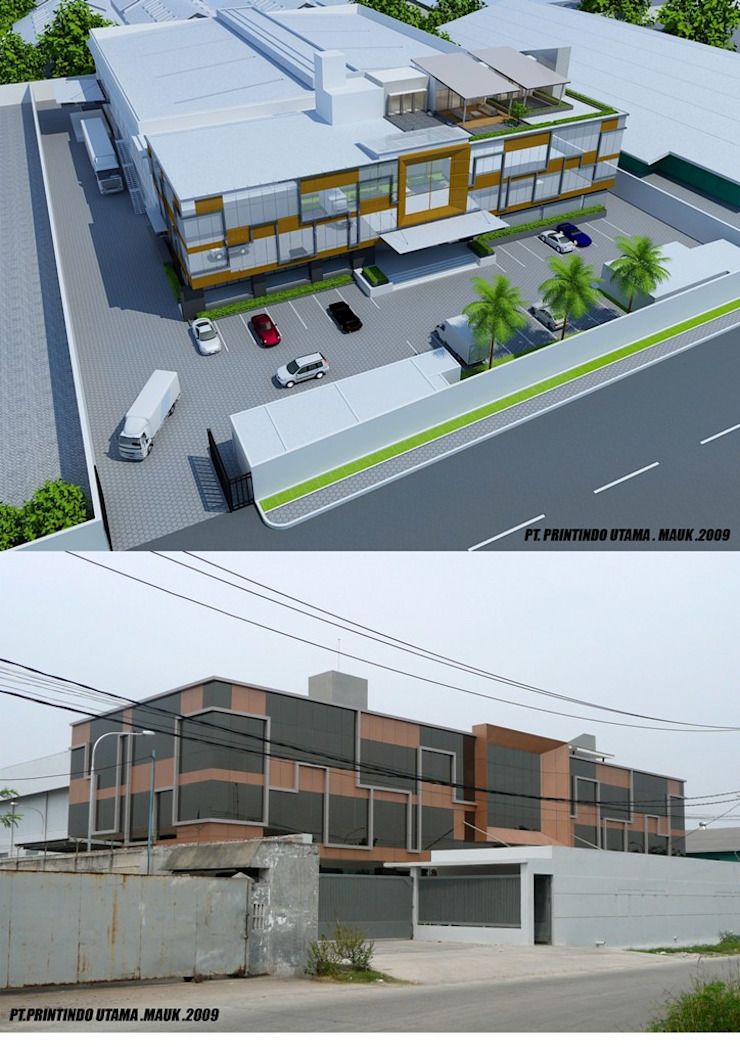 PRINTINDO UTAMA Bangunan Kantor Modern Oleh sony architect studio Modern