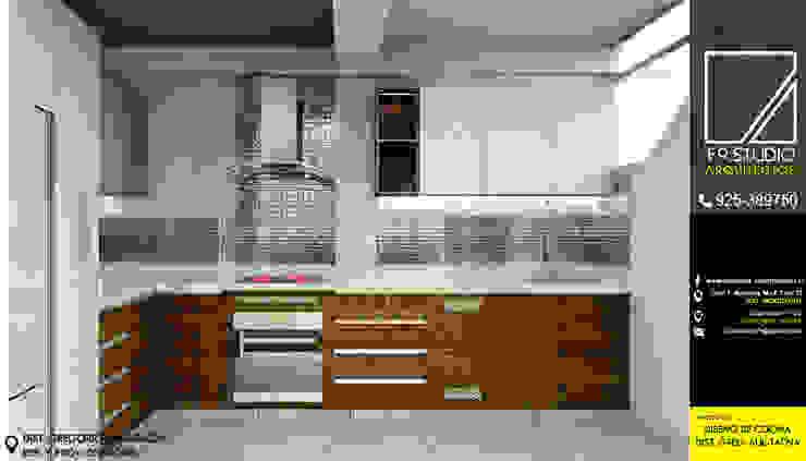 Vista frontal de Cocina de F9.studio Arquitectos Moderno Cuarzo