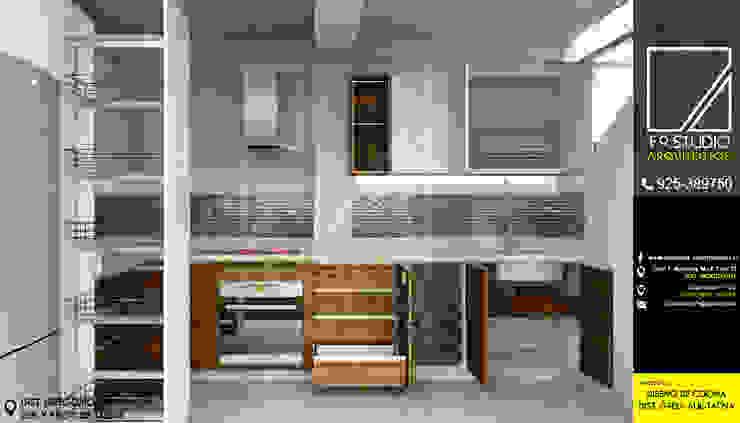 Vista de Organizadores de Cocina de F9.studio Arquitectos Moderno Cuarzo