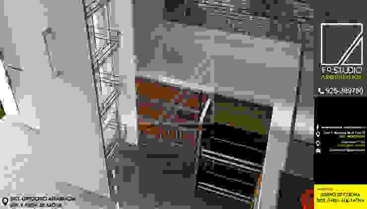 Vista de Despensa y encimera de F9.studio Arquitectos Moderno Aglomerado