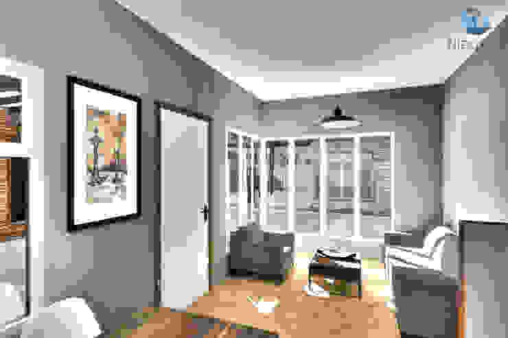 Interior - Estar/Comedor Pasillos, vestíbulos y escaleras modernos de NidoSur Arquitectos - Valdivia Moderno Madera Acabado en madera