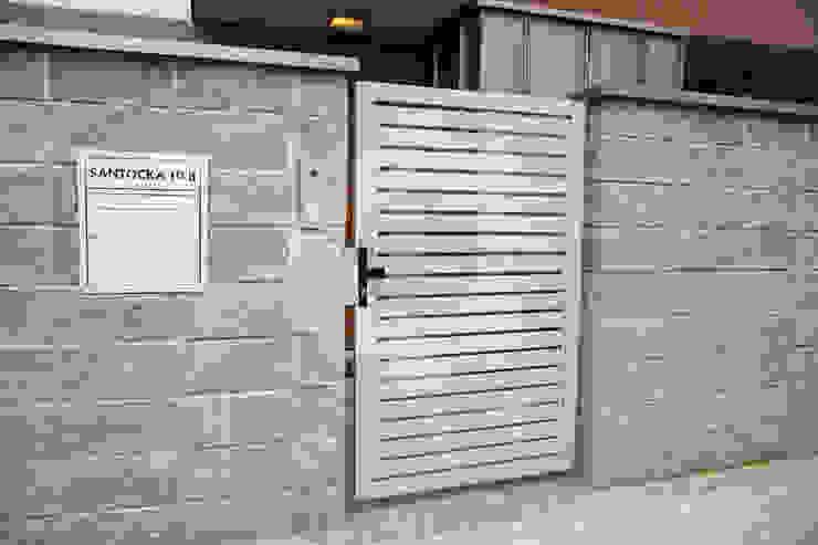 OGRODZENIE-Nowoczesne Front yard Iron/Steel Metallic/Silver