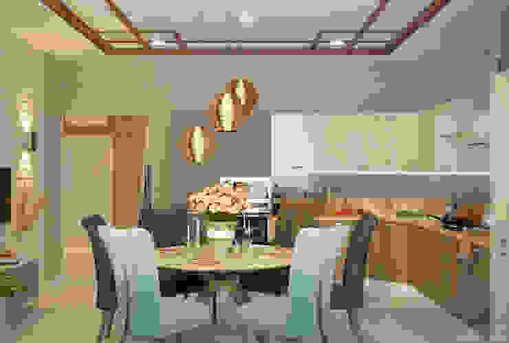 Dapur Modern Oleh Студия интерьерного дизайна happy.design Modern