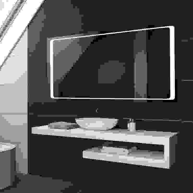 Espejo de baño luz integrada de homify Moderno