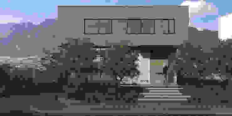 Casa AA- Fachada Frontal de VOA Arquitectos Moderno Mármol