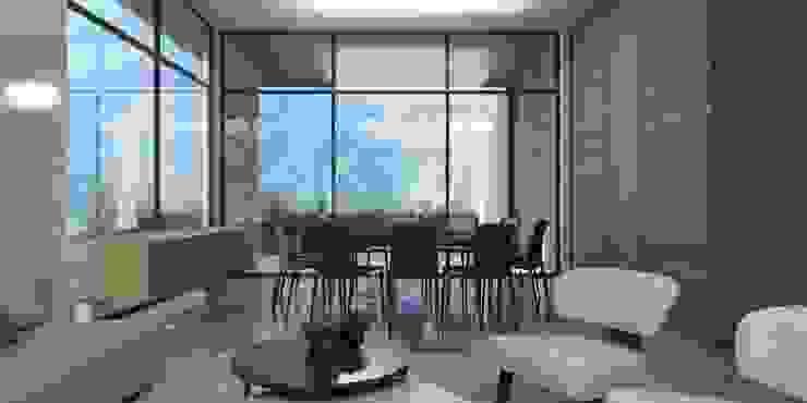 Casa AA Comedores modernos de VOA Arquitectos Moderno Mármol