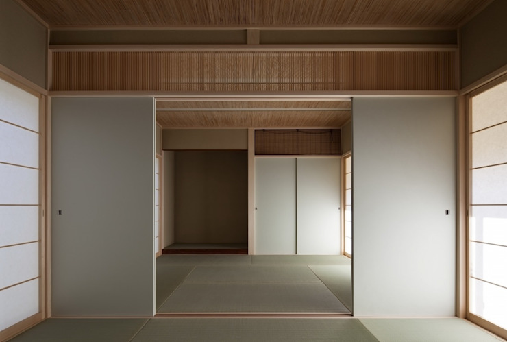 長岡京の家Ⅱ: 吉川弥志設計工房が手掛けた和室です。,モダン