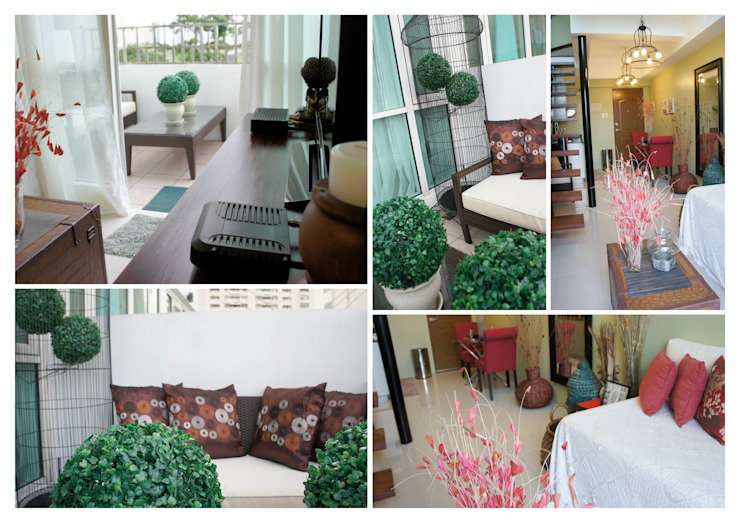One Bedroom Loft in Makati (After): eclectic  by SNS Lush Designs and Home Decor Consultancy, Eclectic