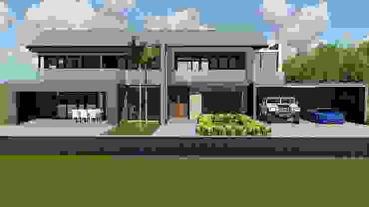 FACADE Modern houses by BlackStructure Modern