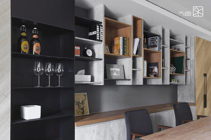 Livings de estilo ecléctico de 禾廊室內設計 Ecléctico